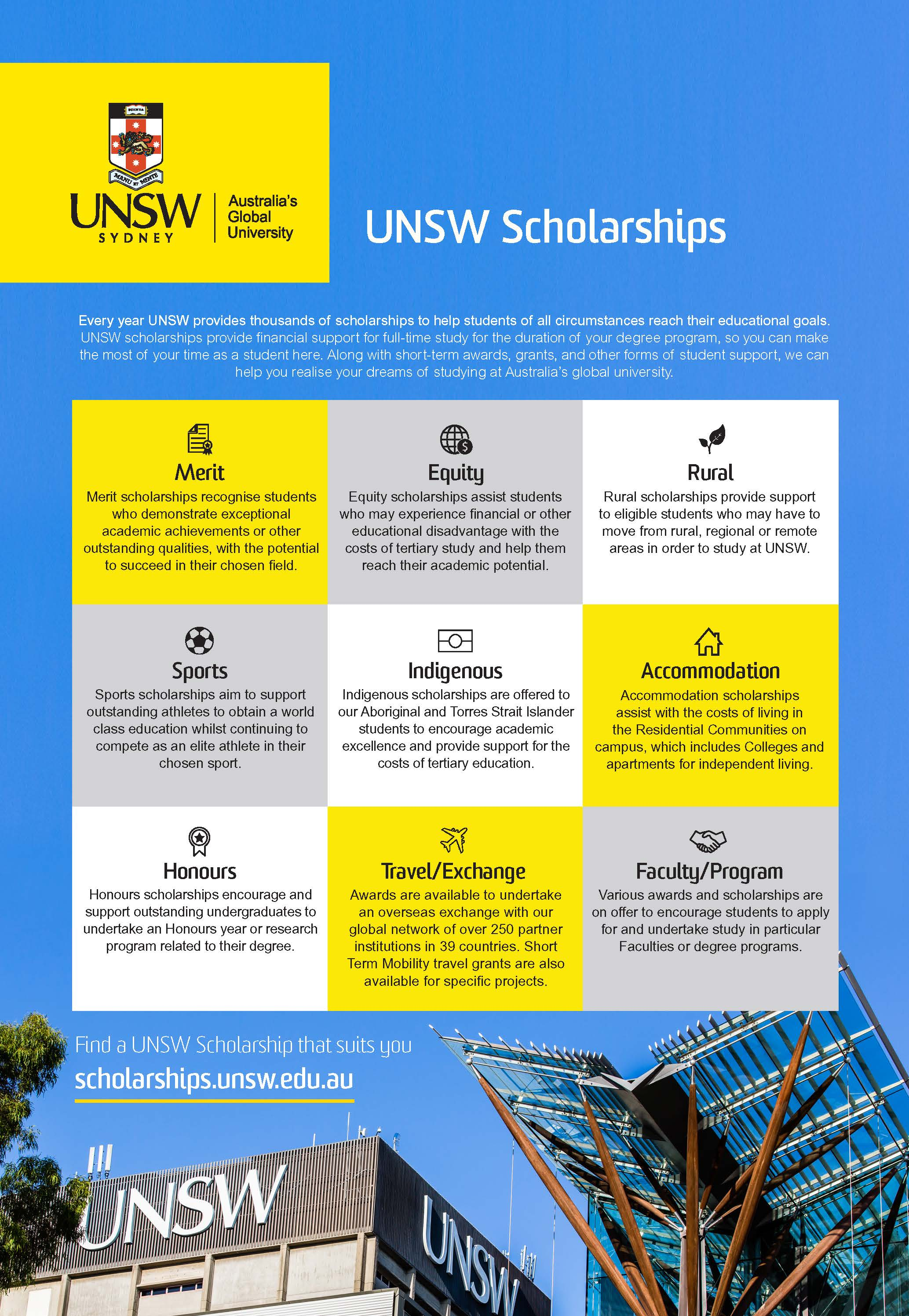 UNSW Scholarships Flyer